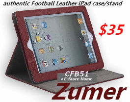 Zumer iPad Mini Football Leather Case/Stand