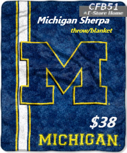 Michigan Sherpa- perfect for the game!!!